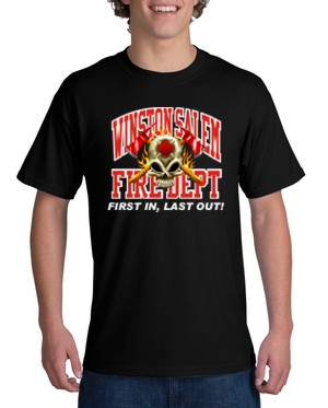 Youth custom fire department t shirt ctfire6 youth for Custom fire t shirts