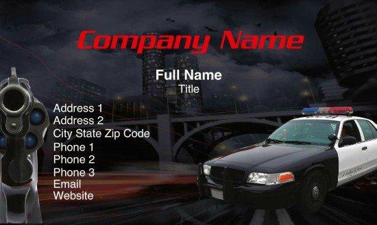 Full Color Professional Law Enforcement Business Cards - Teamlogo ...