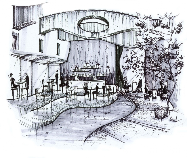 I rendering architectural for Interior designs sketches