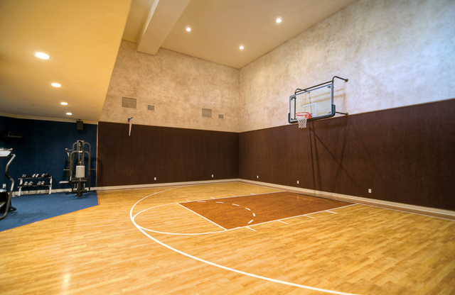 Magnificent properties com luxury real estate luxury for Indoor basketball court ceiling height